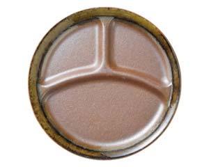 和食器 ア509-166 南蛮織部丸仕切皿(大)