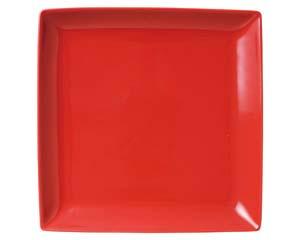 【まとめ買い10個セット品】ホ502-017 スタイルI赤22cm角皿【キャンセル/返品不可】【厨房館】