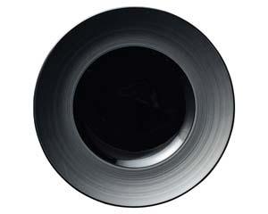 【まとめ買い10個セット品】ネ549-217 グラシアブラウン&ブラック グラシアブラック27cmディナー【キャンセル/返品不可】【厨房館】