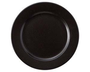 【まとめ買い10個セット品】和食器 ラ544-207 ブラック 9吋プレート 【キャンセル/返品不可】【厨房館】