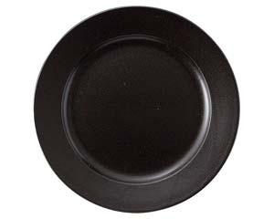 【まとめ買い10個セット品】和食器 ラ566-216 ブラック 10吋プレート 【キャンセル/返品不可】【厨房館】