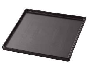 【まとめ買い10個セット品】ラ545-517 TUBE BLACK 18cmスクウェアプレート【キャンセル/返品不可】【厨房館】