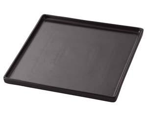 【まとめ買い10個セット品】ラ545-537 TUBE BLACK 24.5cmスクウェアプレート【キャンセル/返品不可】【厨房館】