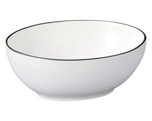 【まとめ買い10個セット品】和食器 キ578-286 オーバルボール WH 【キャンセル/返品不可】【厨房館】