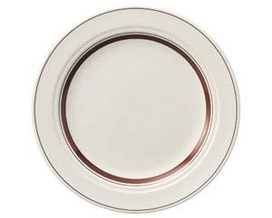 【まとめ買い10個セット品】ケ573-027 カントリーサイドダークブラウン 25.5cmディナー皿【キャンセル/返品不可】【厨房館】