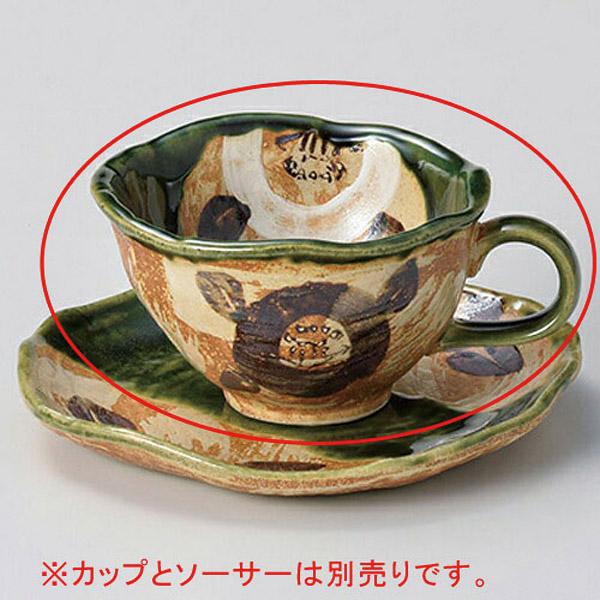 【まとめ買い10個セット品】オ602-037 織部山茶花コーヒー碗【キャンセル/返品不可】【厨房館】