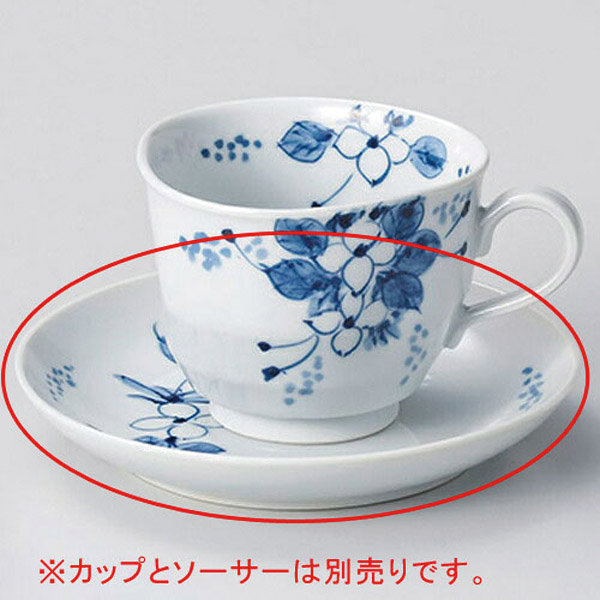 【まとめ買い10個セット品】和食器 オ606-176 手描小花コーヒー碗と受皿 【キャンセル/返品不可】【厨房館】