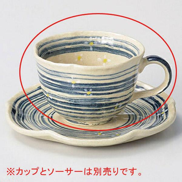 【まとめ買い10個セット品】ロ603-017 流水小花(青)コーヒー碗【キャンセル/返品不可】【厨房館】