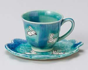 【まとめ買い10個セット品】和食器 ア608-176 青彩コーヒー碗と受皿 【キャンセル/返品不可】【厨房館】