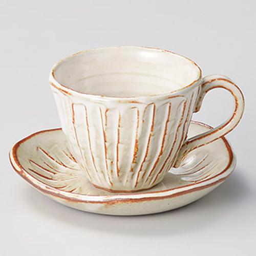 【まとめ買い10個セット品】和食器 テ608-256 白均窯十草コーヒー碗と受皿 【キャンセル/返品不可】【厨房館】