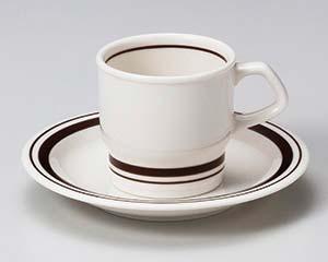 【まとめ買い10個セット品】和食器 ウ611-056 茶筋コーヒー碗と受皿 【キャンセル/返品不可】【厨房館】