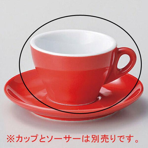【まとめ買い10個セット品】タ607-237 プリートカプチーノ碗 赤【キャンセル/返品不可】【厨房館】