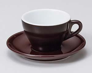 【まとめ買い10個セット品】和食器 タ611-336 プリートカプチーノ(Brown)碗と受皿 【キャンセル/返品不可】【厨房館】