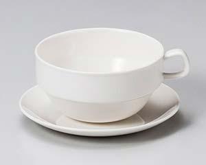 【まとめ買い10個セット品】和食器 ネ612-016 軽量強化 オーレカップ大と受皿 【キャンセル/返品不可】【厨房館】