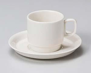 【まとめ買い10個セット品】和食器 ウ612-356 ボンスタックコーヒー碗と受皿 【キャンセル/返品不可】【厨房館】