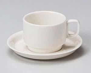 【まとめ買い10個セット品】和食器 ウ612-456 ボンスタック紅茶碗と受皿 【キャンセル/返品不可】【厨房館】