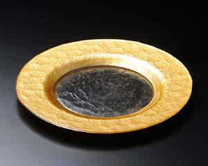 【まとめ買い10個セット品】イ644-047 ゴールドリムプレート22.5cm【キャンセル/返品不可】【厨房館】