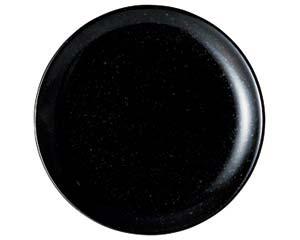 和食器 カ654-276 黒玉渕21cm皿