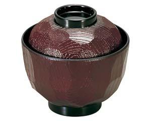 和食器 エ691-206 [A]3.2寸亀甲小吸椀 溜