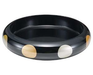 【まとめ買い10個セット品】和食器 エ720-146 [A]S.D.X桶 黒日月尺3寸 【キャンセル/返品不可】【厨房館】