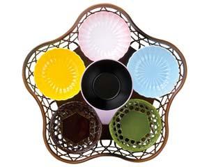 和食器 ヌ722-066 [A]ABS菊鉢(大) 青磁