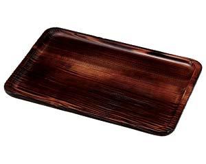 【まとめ買い10個セット品】和食器 ワA730-106 焼杉・長手盆(尺五) 【キャンセル/返品不可】【厨房館】