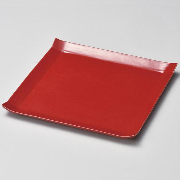 isj-178-037 国内即発送 在庫処分 和食器 ハ178-037 パレット24cmスクエアプレート 厨房館 赤