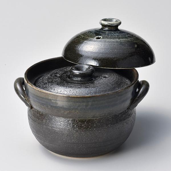 和食器 ス403-097 るり釉ご飯鍋4合炊(中蓋付) 【厨房館】