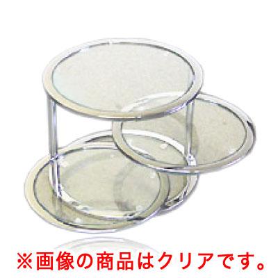 グラスタワーテーブル ブラック [強化ガラス使用ラウンドテーブル] GT-45C/C 【厨房館】