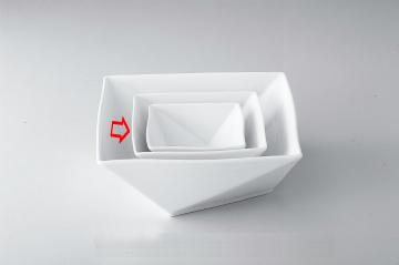 【まとめ買い10個セット品】和食器 折紙 15cm角鉢 36A398-03 まごころ第36集 【キャンセル/返品不可】【厨房館】