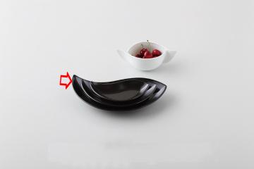 kak-351525 和食器 黒ペーズリー 10吋皿 36A402-18 厨房館 ブランド品 キャンセル 新着セール まごころ第36集 返品不可