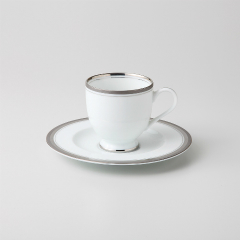 【まとめ買い10個セット品】和食器 シルバーリッチ(ウルトラホワイト) コーヒーC/S 36A466-13 まごころ第36集 【キャンセル/返品不可】【厨房館】