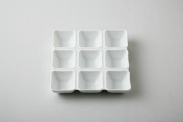 【まとめ買い10個セット品】和食器 白磁 九連皿 36M457-11 まごころ第36集 【キャンセル/返品不可】【厨房館】