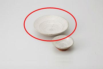 【まとめ買い10個セット品】和食器 白釉櫛目 刺身皿 36M021-27 まごころ第36集 【キャンセル/返品不可】【厨房館】