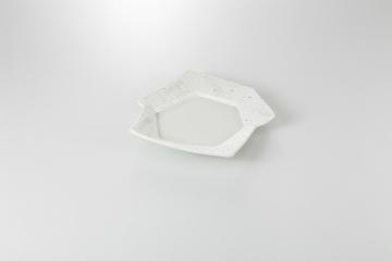 【まとめ買い10個セット品】和食器 点紋 変形六角皿 36F126-21 まごころ第36集 【キャンセル/返品不可】【厨房館】