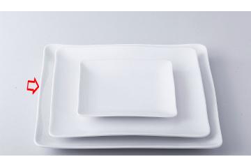 【まとめ買い10個セット品】和食器 シャインホワイト ウエーブプレート(L) 36K405-14 まごころ第36集 【キャンセル/返品不可】【厨房館】
