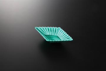 【まとめ買い10個セット品】和食器 緑交趾(無鉛) 菱型皿 36K046-04 まごころ第36集 【キャンセル/返品不可】【厨房館】