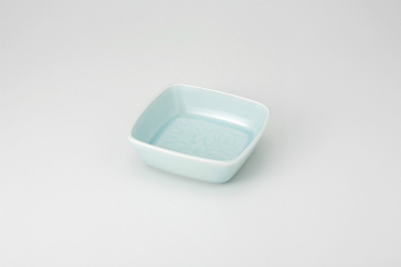 【まとめ買い10個セット品】和食器 青白瓷 唐草5.0角鉢 36Q048-15 まごころ第36集 【キャンセル/返品不可】【厨房館】