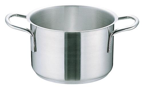 【 業務用 】ムラノ インダクション18-8ステンレス 半寸胴鍋 [蓋無]45cm 業務用