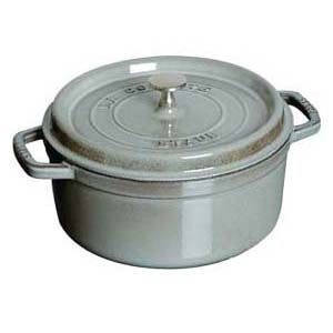 【 業務用 】ストウブ ピコ ココット 丸 20cm グレー 1102018 【 両手鍋 調理鍋 】【 調理器具厨房用品厨房機器プロ愛用名調 】