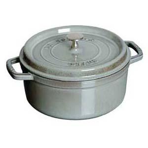 【 業務用 】ストウブ ピコ ココット 丸 22cm グレー 1102218 【 両手鍋 調理鍋 】【 調理器具厨房用品厨房機器プロ愛用名調 】