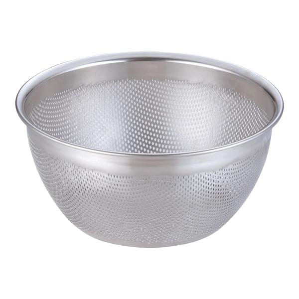 18-8 HACCPパンチング深型ざる 27.5cm 【厨房館】