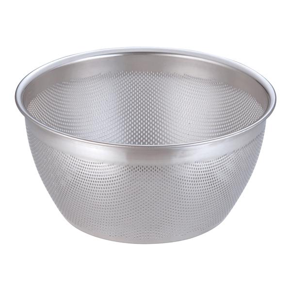 18-8 HACCPパンチング深型ざる 33cm 【厨房館】