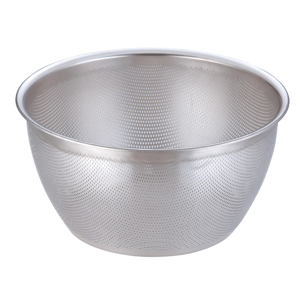 18-8 HACCPパンチング深型ざる 35cm 【厨房館】