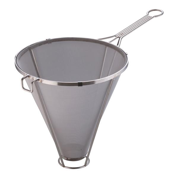 【 業務用 】18-8 SAステンレス替網式ホテル用スープ漉し 30cm[50メッシュ]