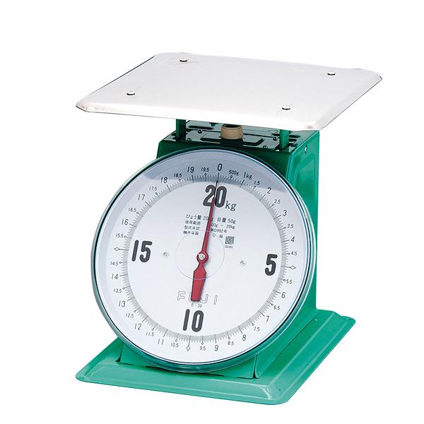 【 業務用 】フジ 上皿自動ハカリ 特大E型 20kg [平皿付]