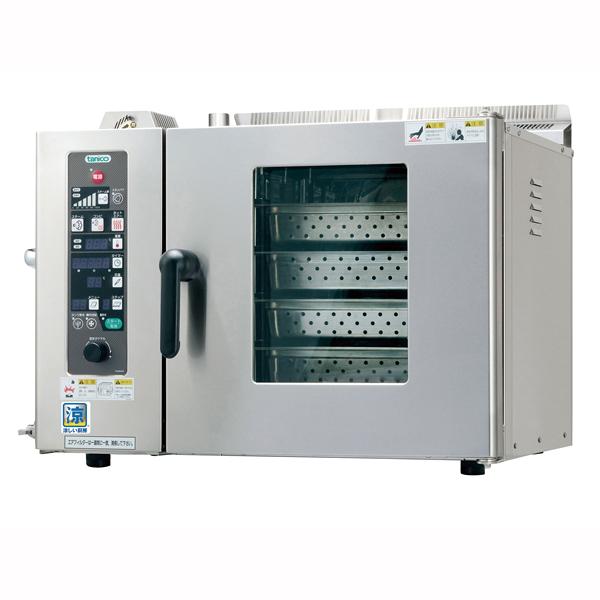 【 業務用 】ガス卓上型スチームコンべクションオーブン TSCO-4GBC 都市ガス【 メーカー直送/後払い決済不可 】