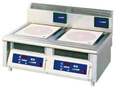 【 業務用 】電磁調理器2連卓上タイプ MIR-1035T 【 メーカー直送/後払い決済不可 】