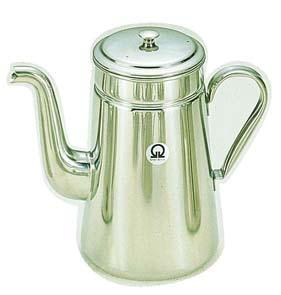 【 業務用 】SA18-8コーヒーポット #18 ツル首[電磁調理器用] 【 定番コーヒーポット 】