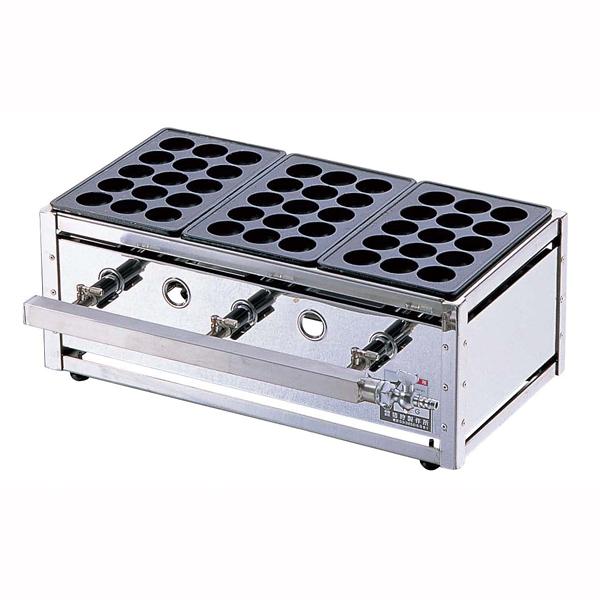 【 業務用 】関東式たこ焼器 15穴 ET-155 LPガス【 メーカー直送/後払い決済不可 】